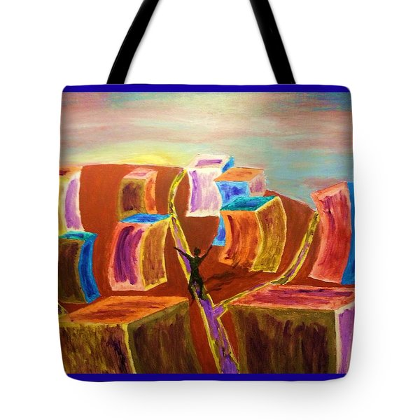 Leaving The Stress Of The City With A  Border Tote Bag by Irving Starr