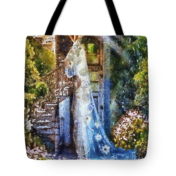 Leaving Wonderland Tote Bag by Mo T