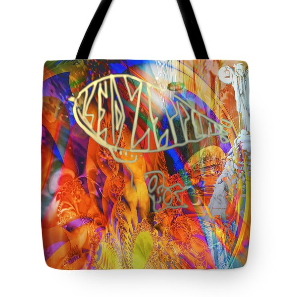 Led Shred Tote Bag by Kevin Caudill