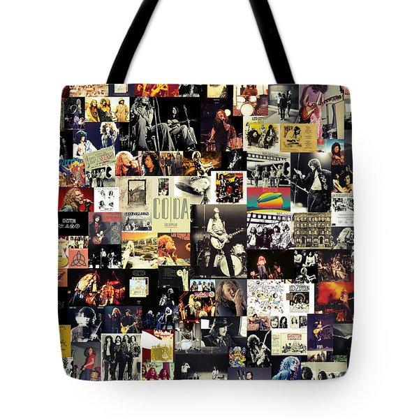 Led Zeppelin Collage Tote Bag