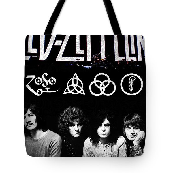 Led Zeppelin Tote Bag by FHT Designs