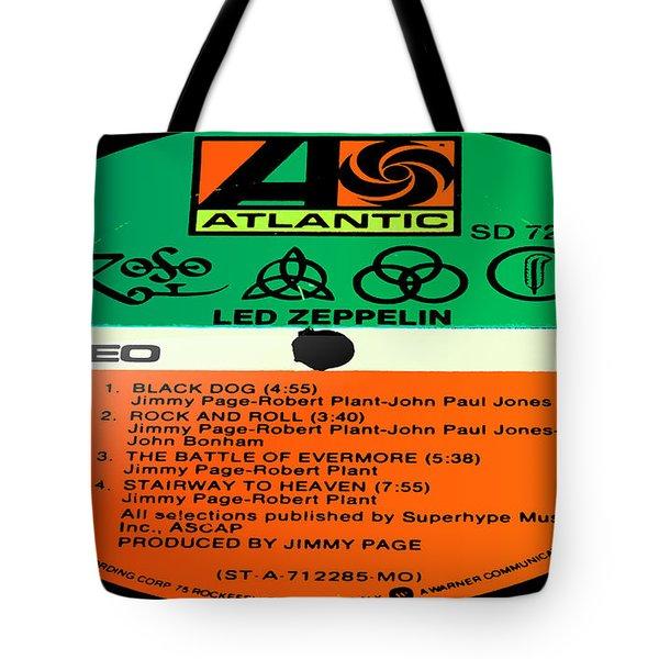 Led Zeppelin Iv Side 1 Tote Bag