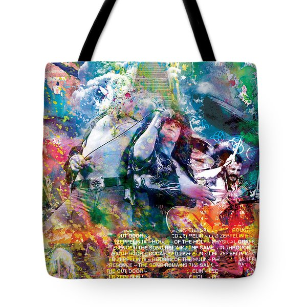 Led Zeppelin Original Painting Print  Tote Bag by Ryan Rock Artist