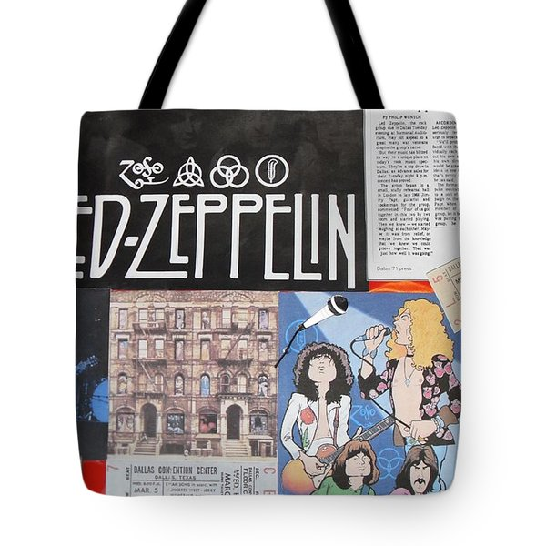Led Zeppelin Past Times Tote Bag by Donna Wilson