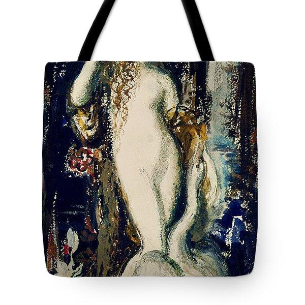 Leda  Tote Bag by Gustave Moreau