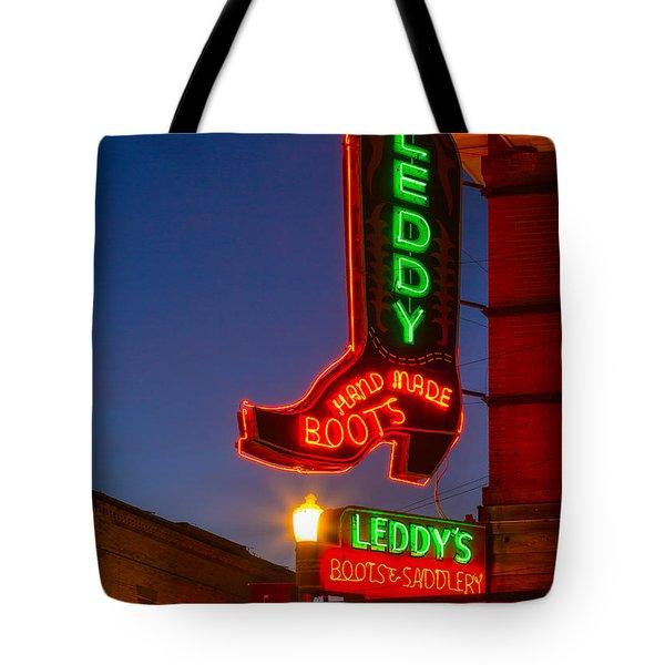 Leddy Boots Neon Tote Bag