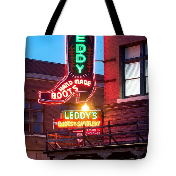 Leddy Hand Made Boots 031315 Tote Bag