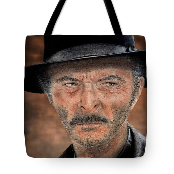 Lee Van Cleef As Angel Eyes In The Good The Bad And The Ugly Version II Tote Bag