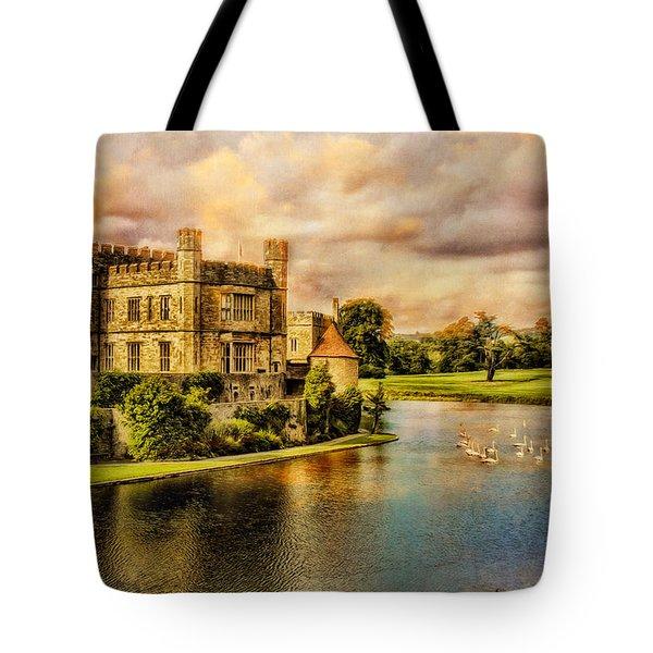 Leeds Castle Landscape Tote Bag by Chris Lord