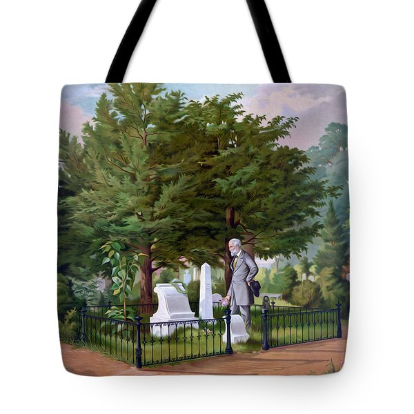 Lee's Final Visit To Stonewall Jackson  Tote Bag