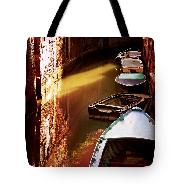Legata Nel Canale Tote Bag by Micki Findlay
