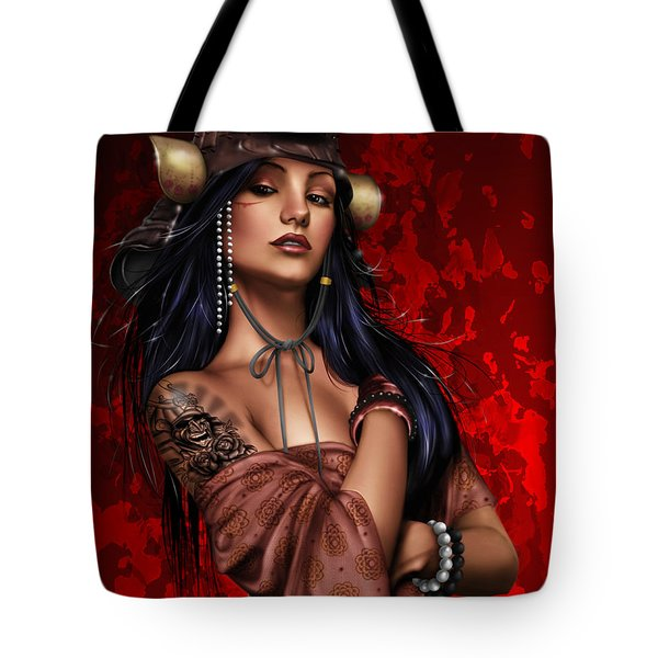 Tote Bag featuring the painting Legend by Pete Tapang