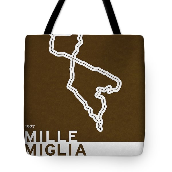 Legendary Races - 1927 Mille Miglia Tote Bag by Chungkong Art
