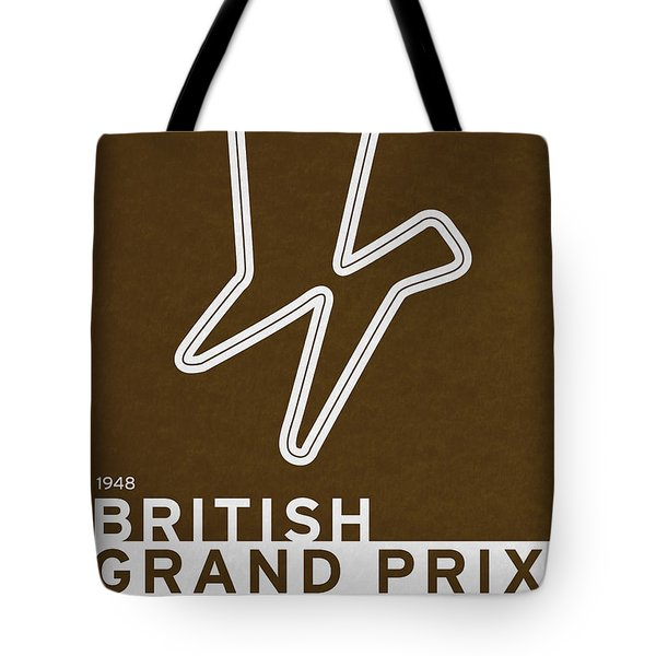 Legendary Races - 1948 British Grand Prix Tote Bag by Chungkong Art