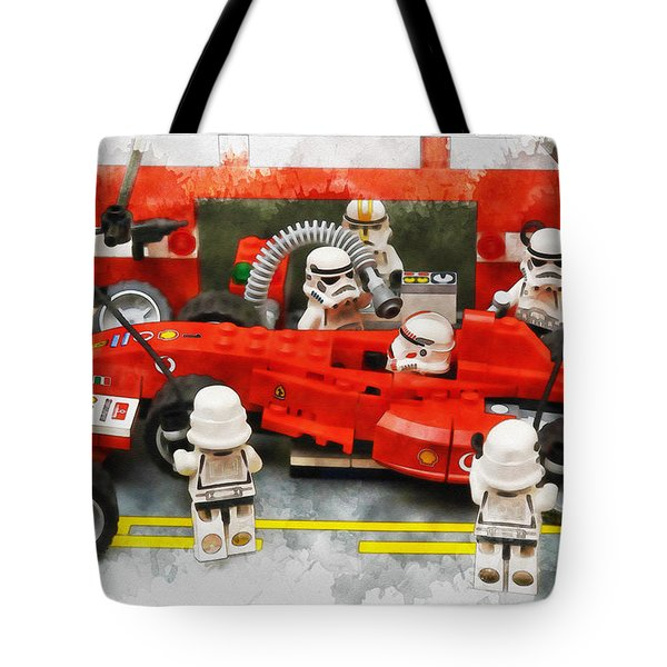 Lego Pit Stop Tote Bag