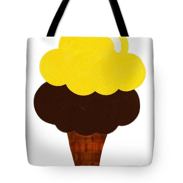 Lemon And Chocolate Ice Cream Tote Bag