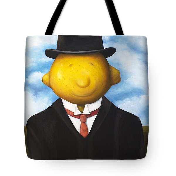 Lemon Head Tote Bag by Leah Saulnier The Painting Maniac