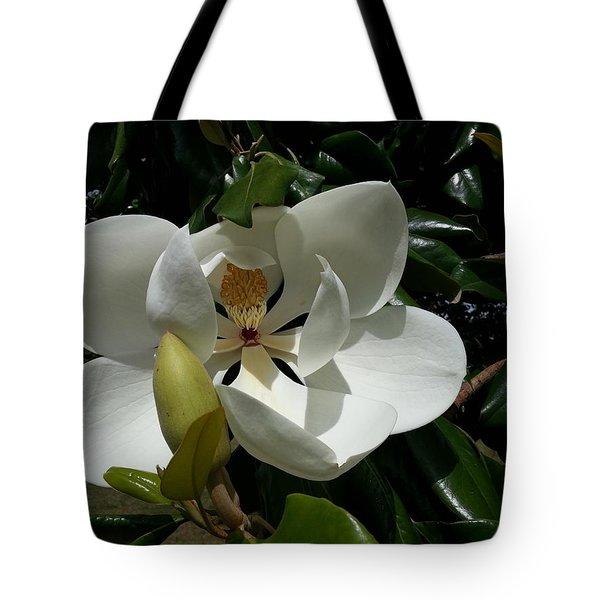 Lemon Magnolia Tote Bag