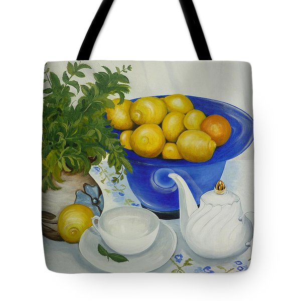 Lemon Tea Tote Bag
