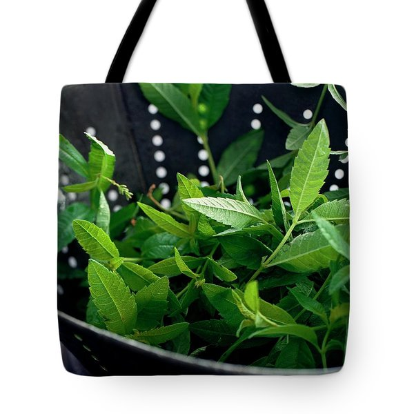 Lemon Verbena Herbs Tote Bag