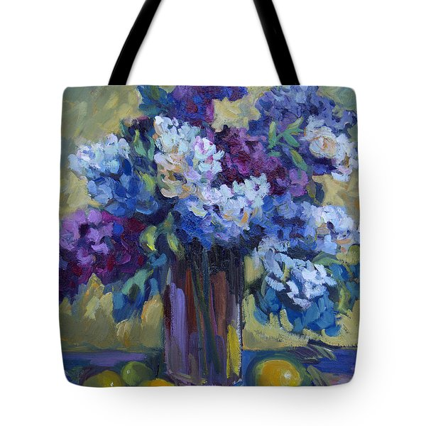 Lemons And Lilacs Tote Bag by Diane McClary