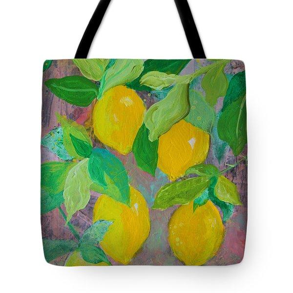 Lemons On Lemon Tree Tote Bag