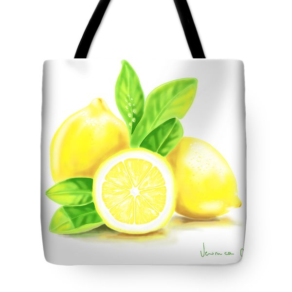 Lemons Tote Bag by Veronica Minozzi