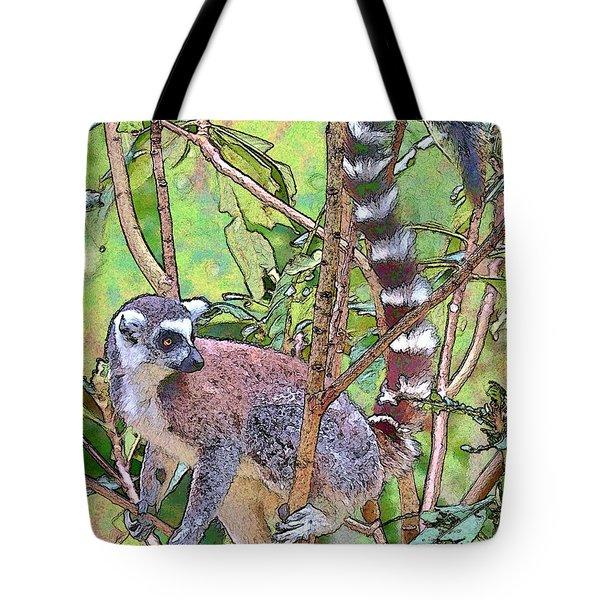 Lemur Sketch Tote Bag by Dan Dooley