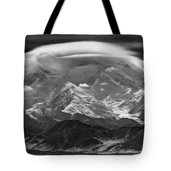101366-lenticular Cloudcap Over Mt. Mckinley Tote Bag