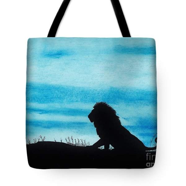 Leo At Sunset Tote Bag