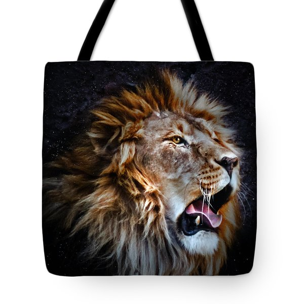 Tote Bag featuring the photograph LEO by Elaine Malott