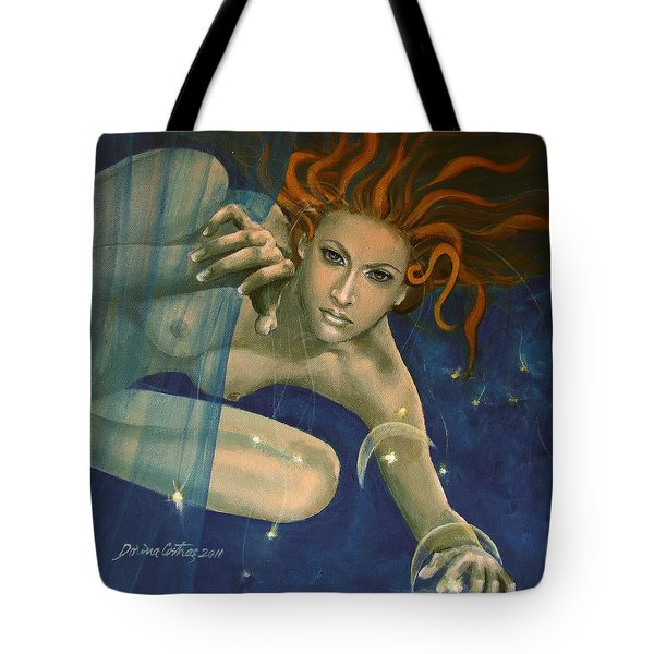 Leo From Zodiac Series Tote Bag by Dorina  Costras