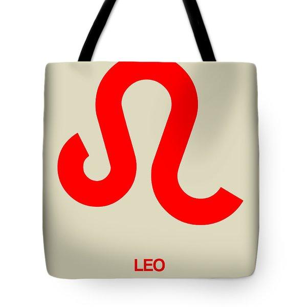 Leo Zodiac Sign Red Tote Bag