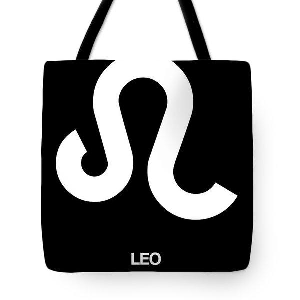 Leo Zodiac Sign White Tote Bag