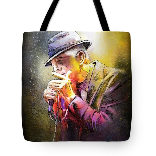 Leonard Cohen 02 Tote Bag by Miki De Goodaboom