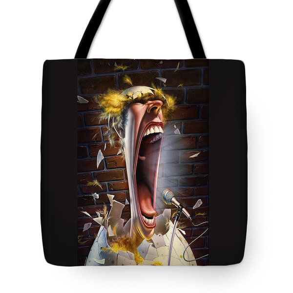 Leonard J. Waxdeck's 25th Annual Bird Calling Contest Tote Bag by Mark Fredrickson