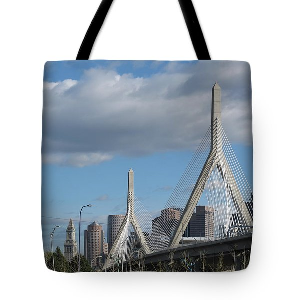 Leonard P Zakim Bridge Tote Bag