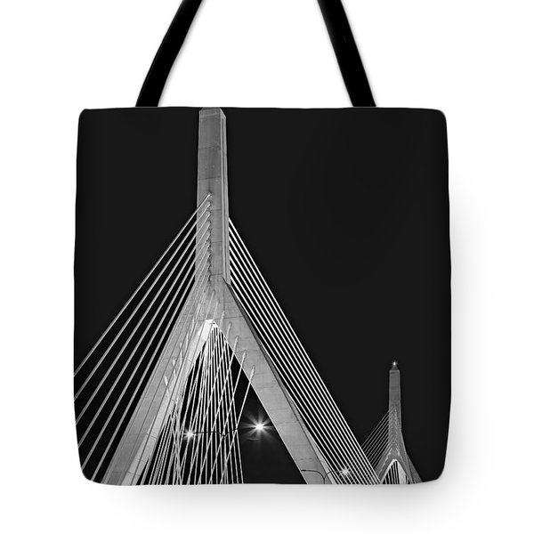 Leonard P. Zakim Bunker Hill Memorial Bridge Bw II Tote Bag