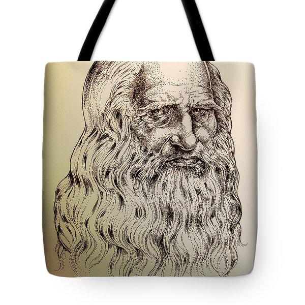 Leonardo Da Vinci Tote Bag by Derrick Higgins