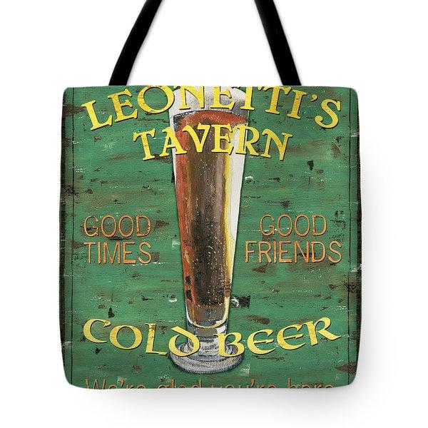 Leonetti's Tavern Tote Bag by Debbie DeWitt