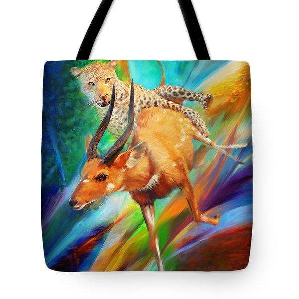 Leopard Attack Tote Bag