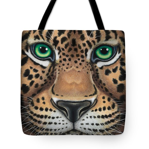 Wild Eyes Leopard Face Tote Bag
