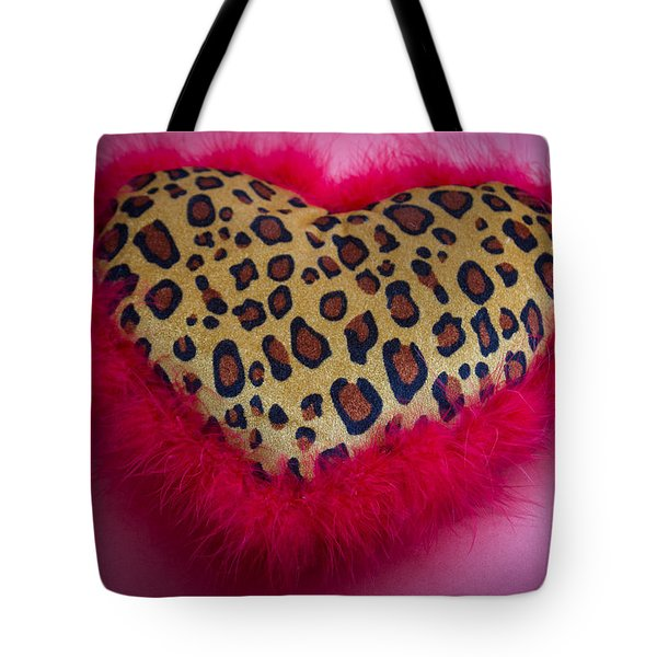 Tote Bag featuring the photograph Leopard Heart by Patrice Zinck