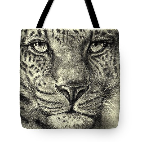 Leopard Tote Bag by Heidi Kriel