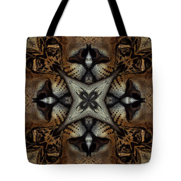 Leopard Kaleidoscope  Tote Bag
