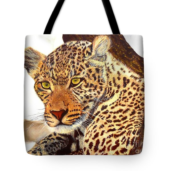 Leopard Point Of View Tote Bag