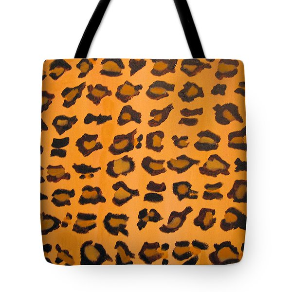 Leopard Print Hand Painted Leopard Print  Tote Bag