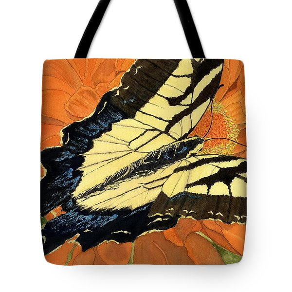 Tote Bag featuring the painting Lepidoptery by Joel Deutsch