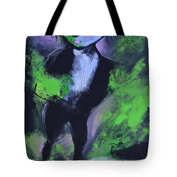 Leprechaun Tote Bag by Donna Blackhall