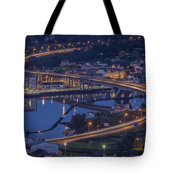 Tote Bag featuring the photograph Lerez River Pontevedra Galicia Spain by Pablo Avanzini